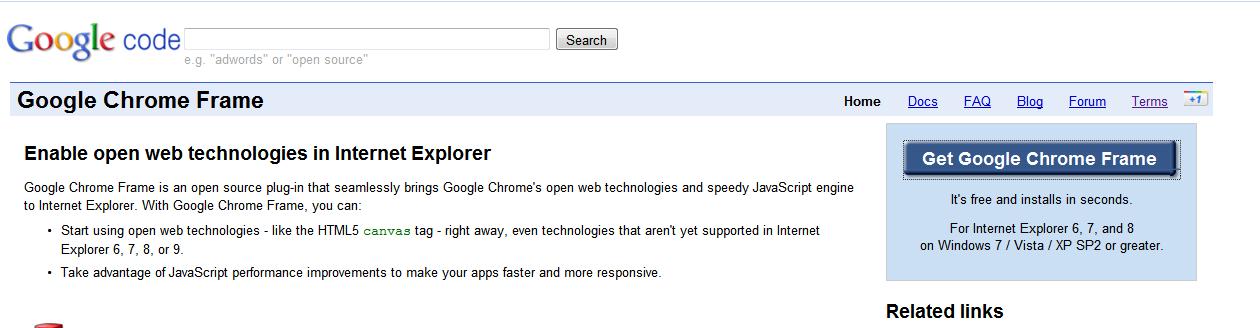 Google Chrome Frame – Storage Made Easy Blog