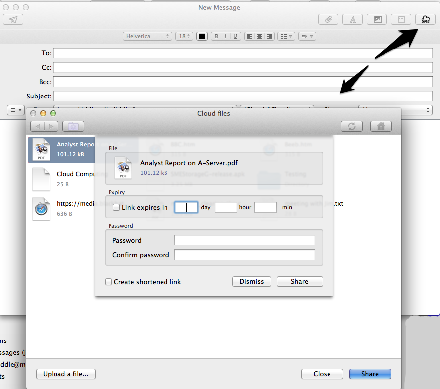 Mac Mail large file sharing
