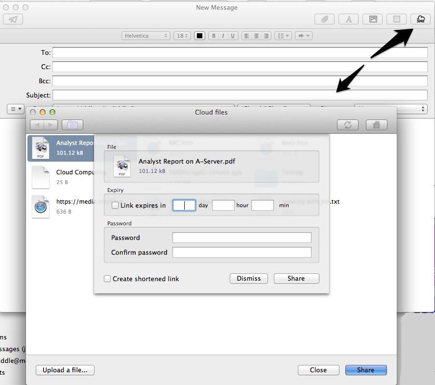 Mac Mail large file sharing
