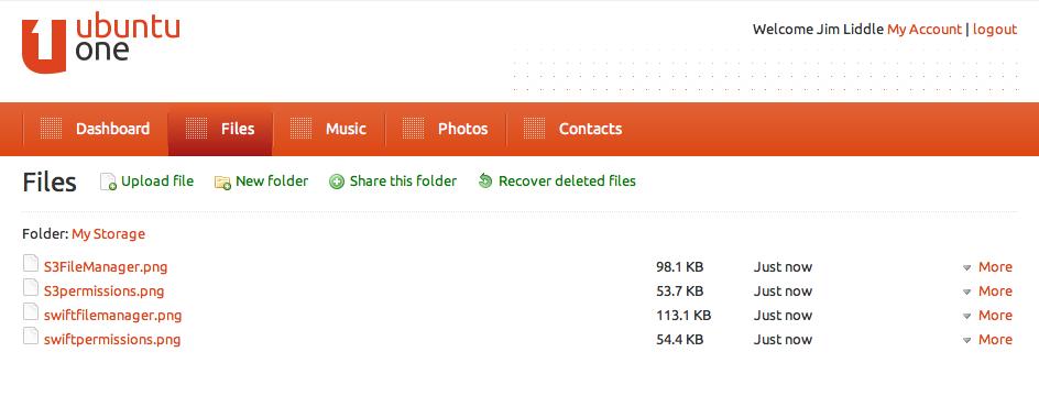 Ubuntu One File Manager