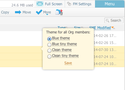 File Manager themes