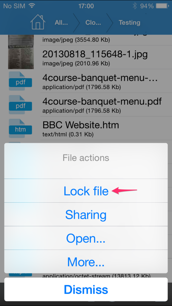 iOS Locking