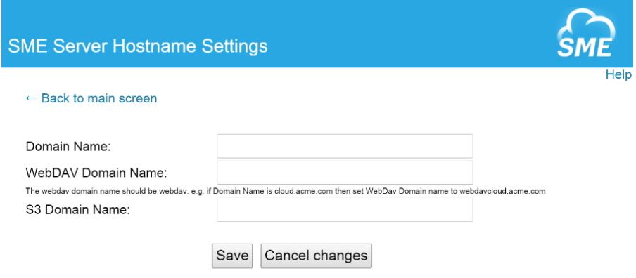 SME Server Hostnames
