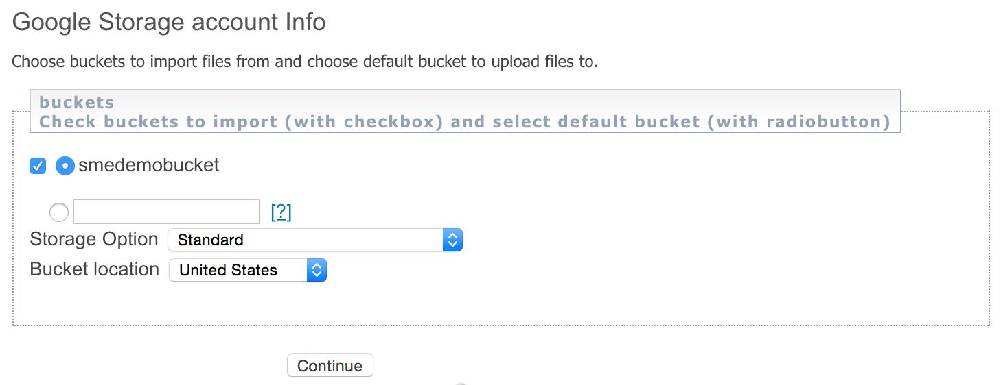 Google Nearline bucket