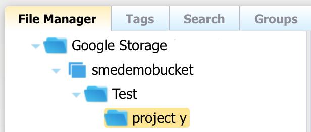 Google Storage Nearline File Manager