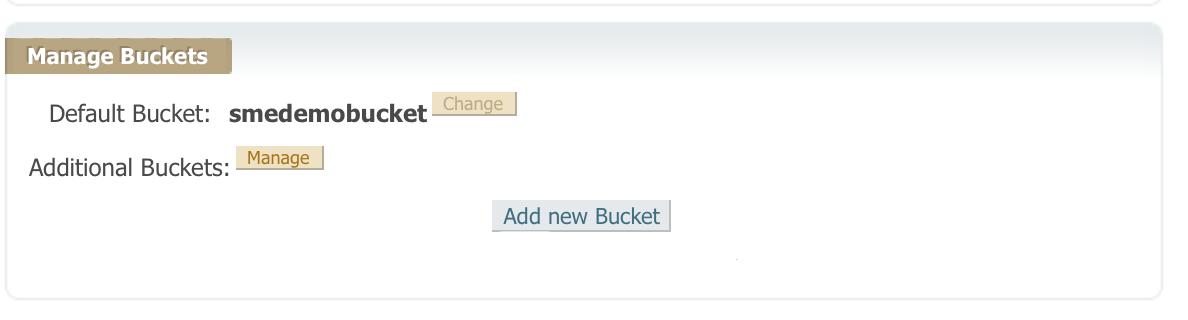 Google Nearline Manage buckets