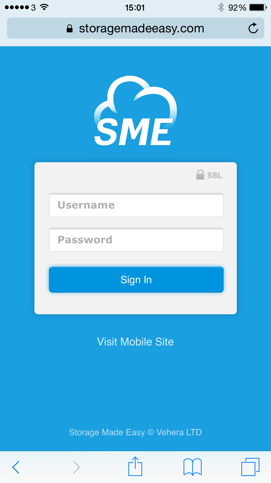 Storage Made Easy Mobile Login