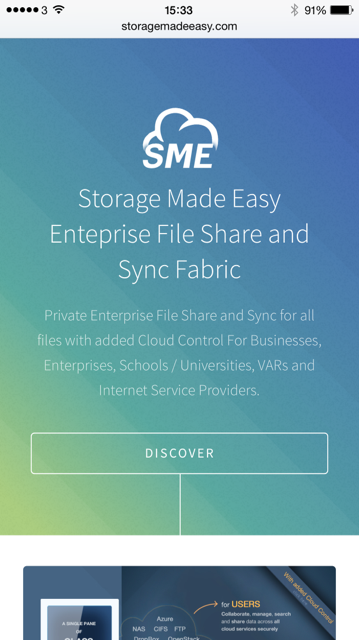 Storage Made Easy Mobile Site
