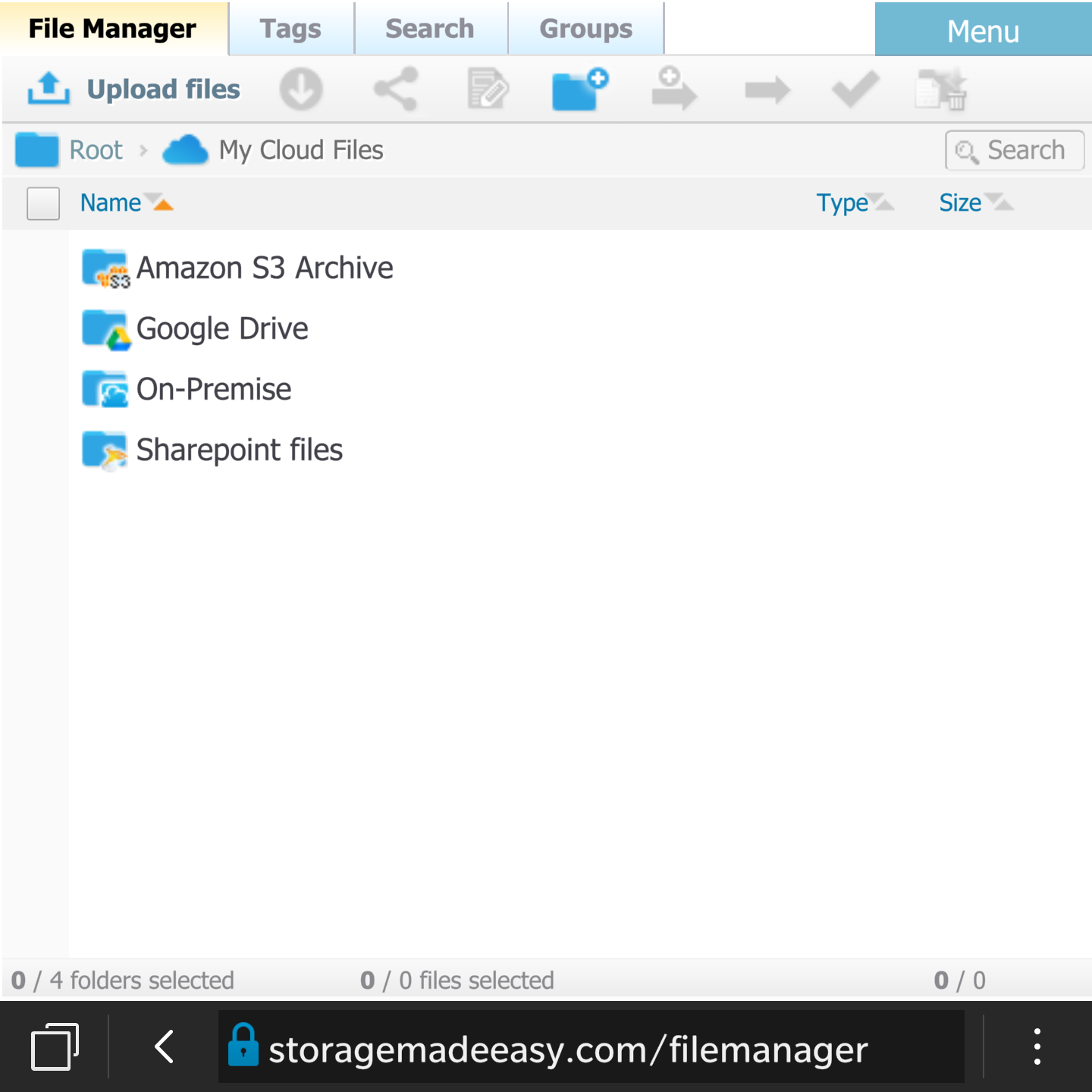 BlackBerry Passport Cloud File Manager