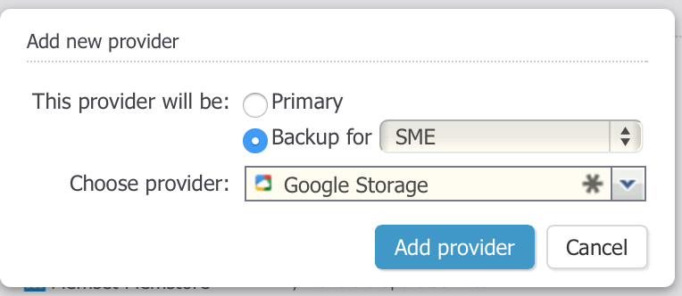 Google Storage Nearline Backup