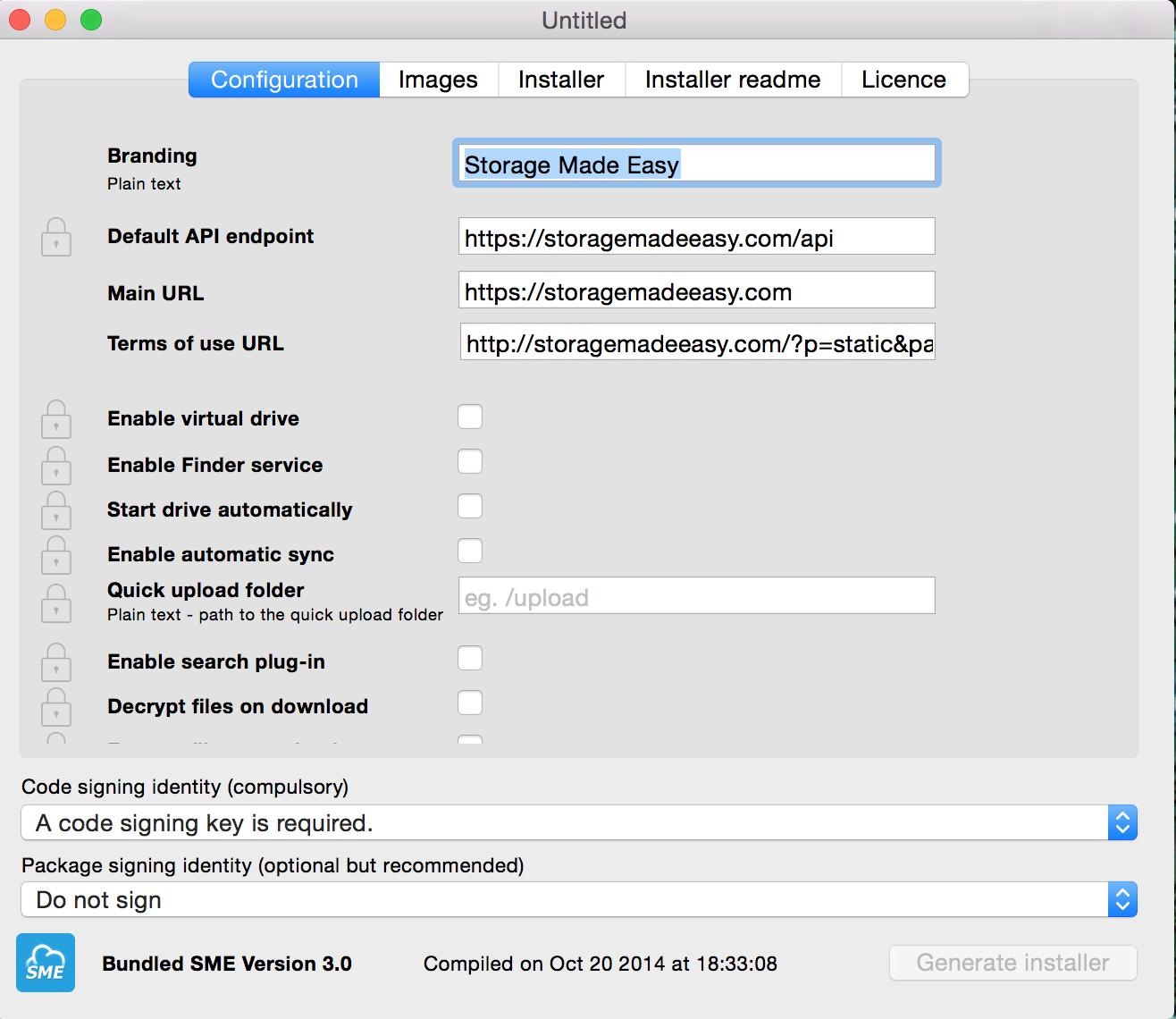 Mac branded cloud storage