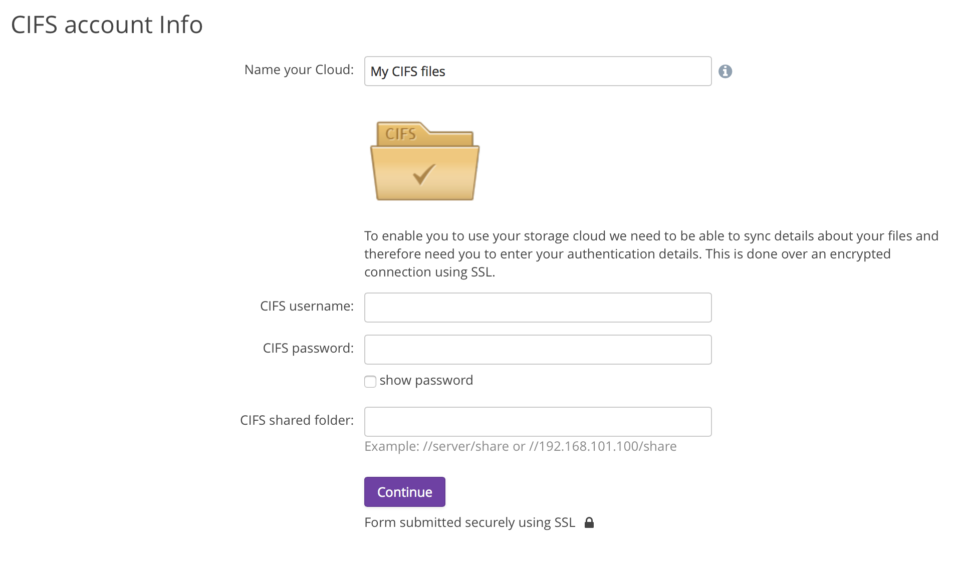Windows file shares cloud