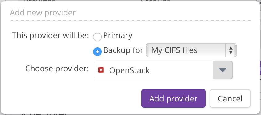 CIFS Backup OpenStack