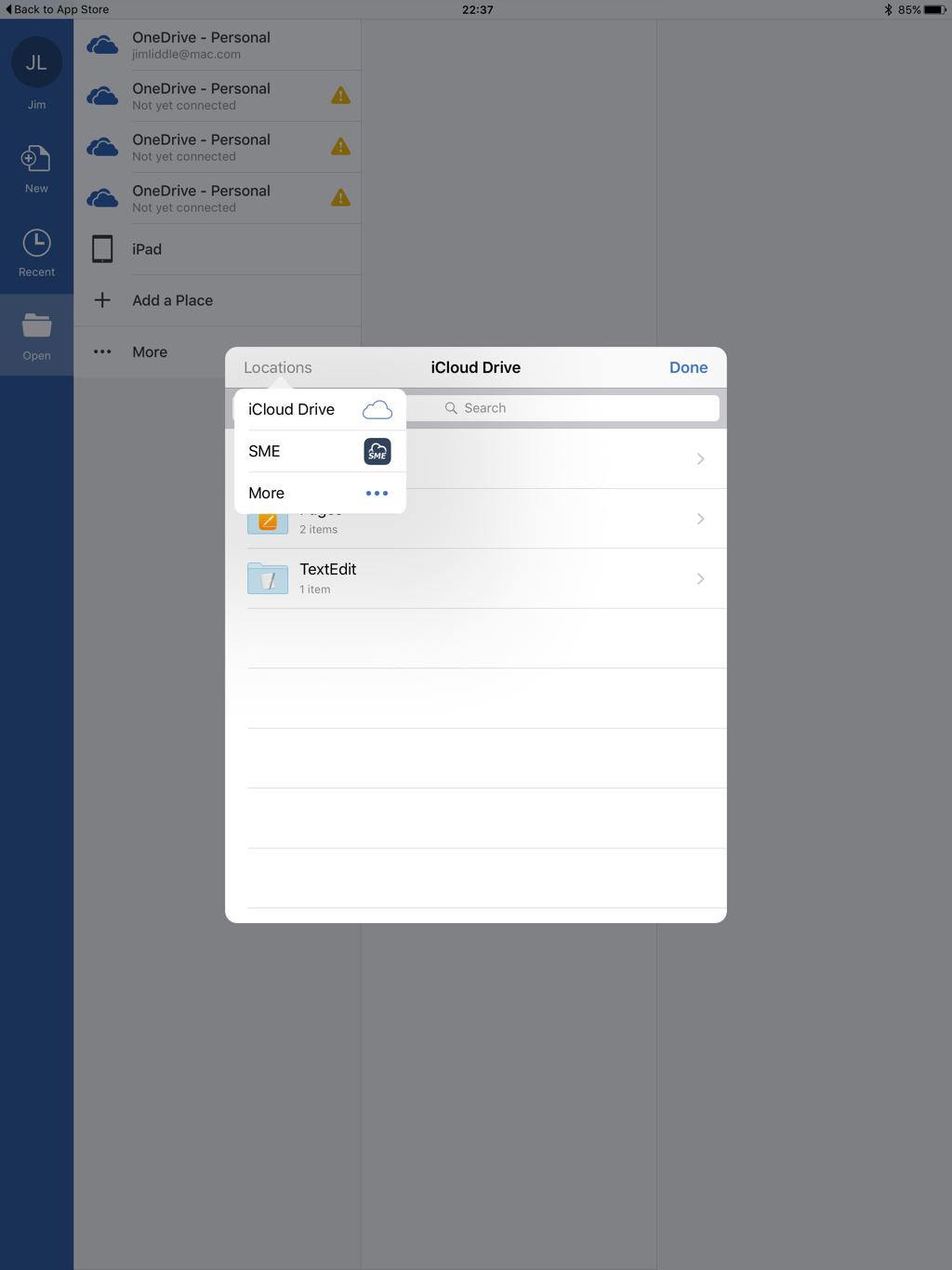 OpenStack MS Word iOS