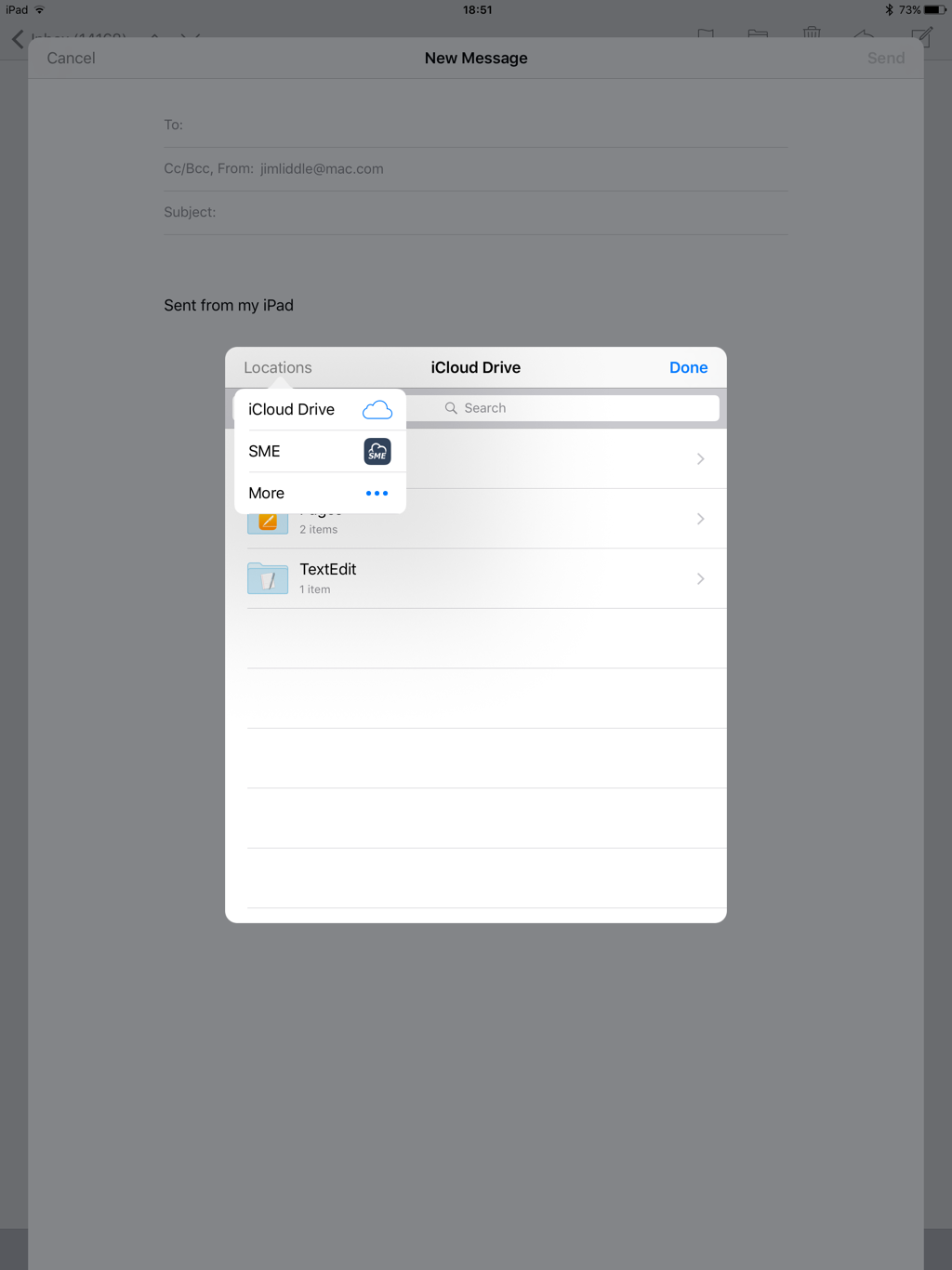 iOS OpenStack Email