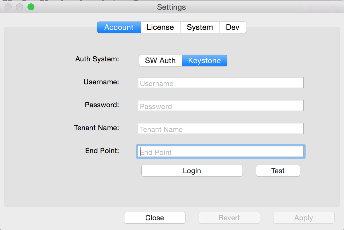 OpenStack Swift Mac
