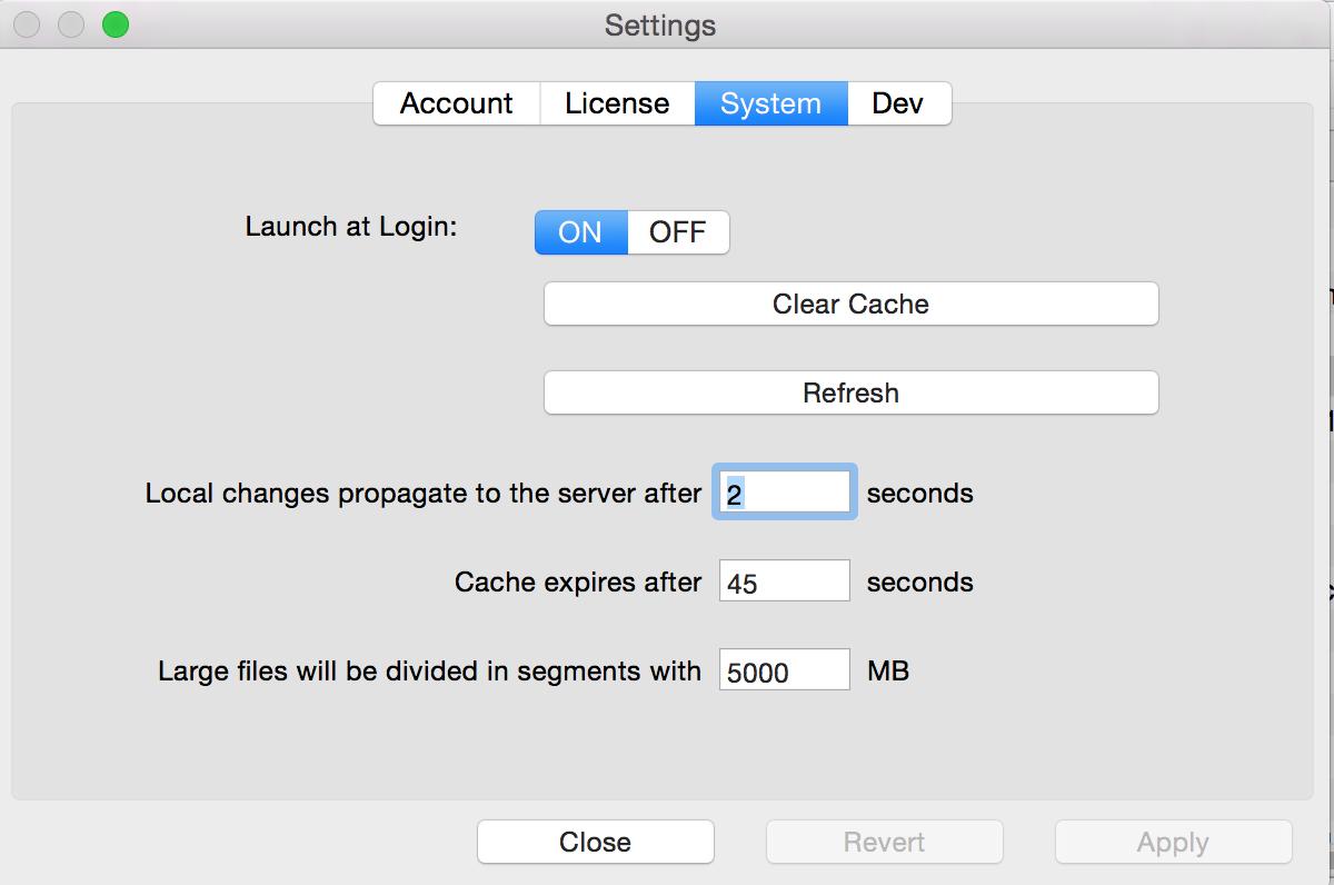 Mac Swift Drive settings
