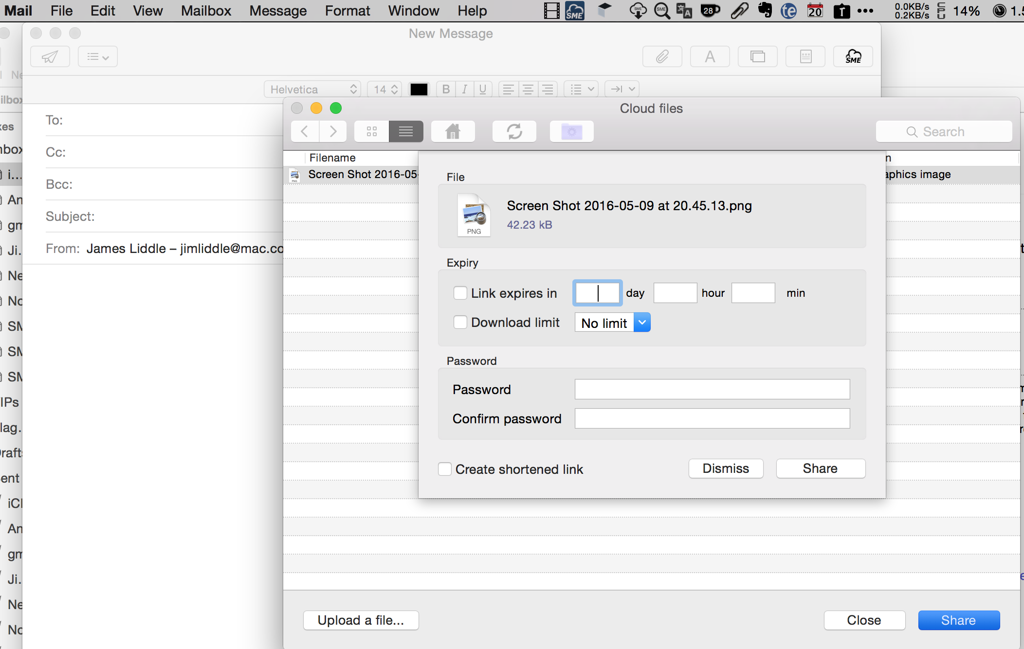 Mac Mail File Sharing Plugin