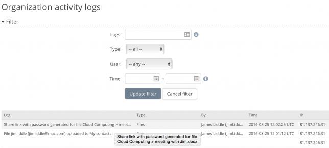 File Event logs
