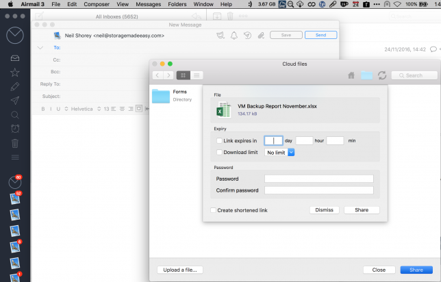 Secure Share office365 Mac