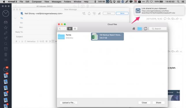 Mac secure file link sharing