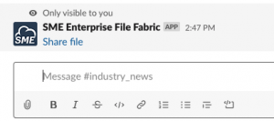 File Fabric Slack Integration