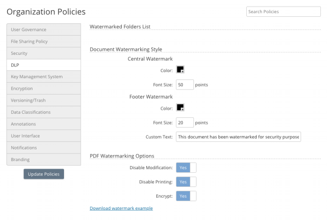 Data Governance Policies