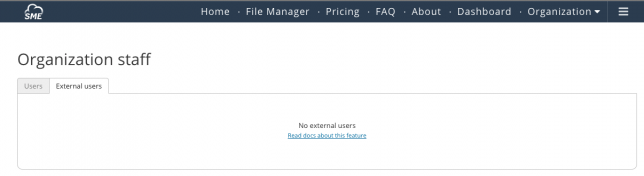 File Fabric external users